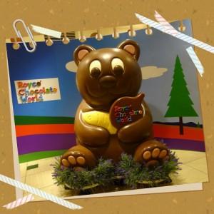 新千歳空Royce' Chocolate World(ロイズチョコレートワールド)のクマさん
