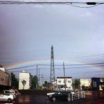 十勝に恵みの雨と二重の虹ʕ·ᴥ·ʔ